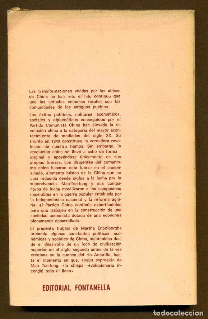 Libros de segunda mano: LA CHINA RURAL COMUNAS POPULARES - MARTHE ENGELBORGHS - Foto 2 - 173217493