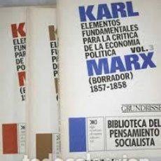 Libros de segunda mano: EL CAPITAL. KARL MARX BIBLIOTECA DE PENSAMIENTO SOCIALISTA. SIGLO XXI. 8 VOLÚMENES. Lote 105885035