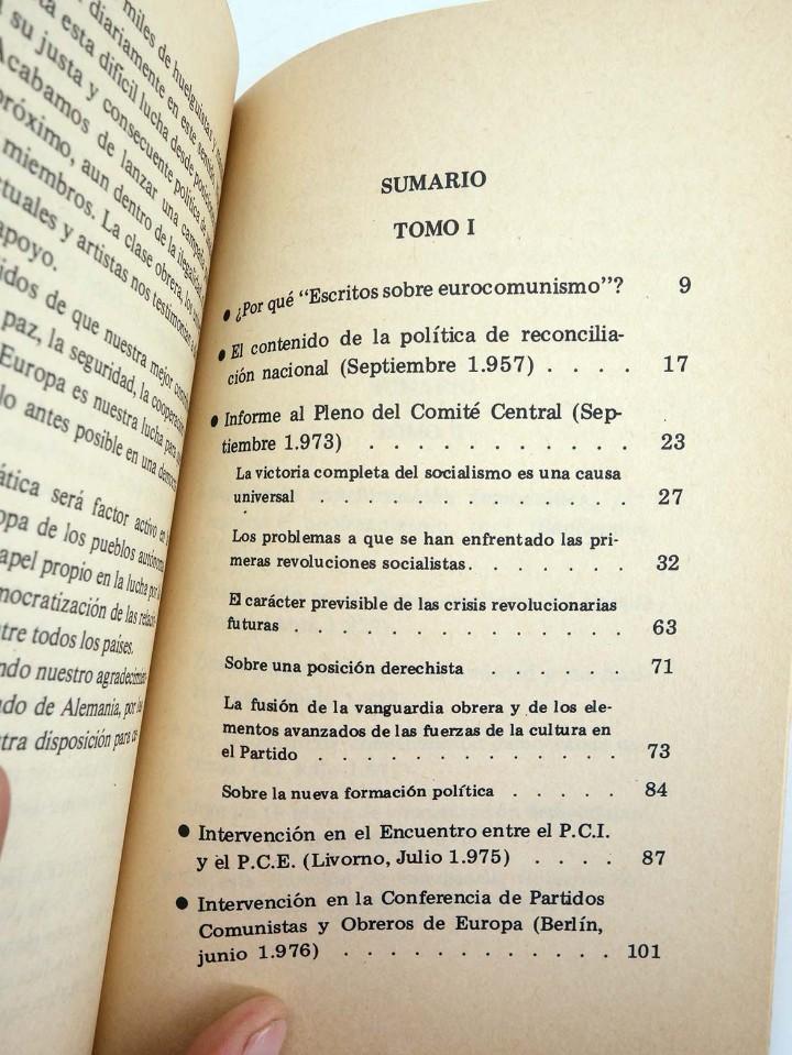 Libros de segunda mano: EUROCOMUNISMO, SOCIALISMO EN LIBERTAD ESCRITOS SOBRE EUROCOMUNISMO (Santiago Carrillo) Forma, 1977 - Foto 3 - 105995922
