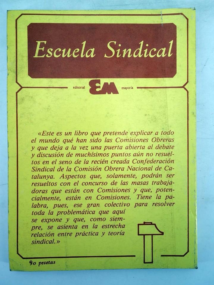 Libros de segunda mano: ESCUELA SINDICAL SINDICALISMO EN CATALUÑA (Vvaa) Mayoría, 1977 - Foto 2 - 105995958