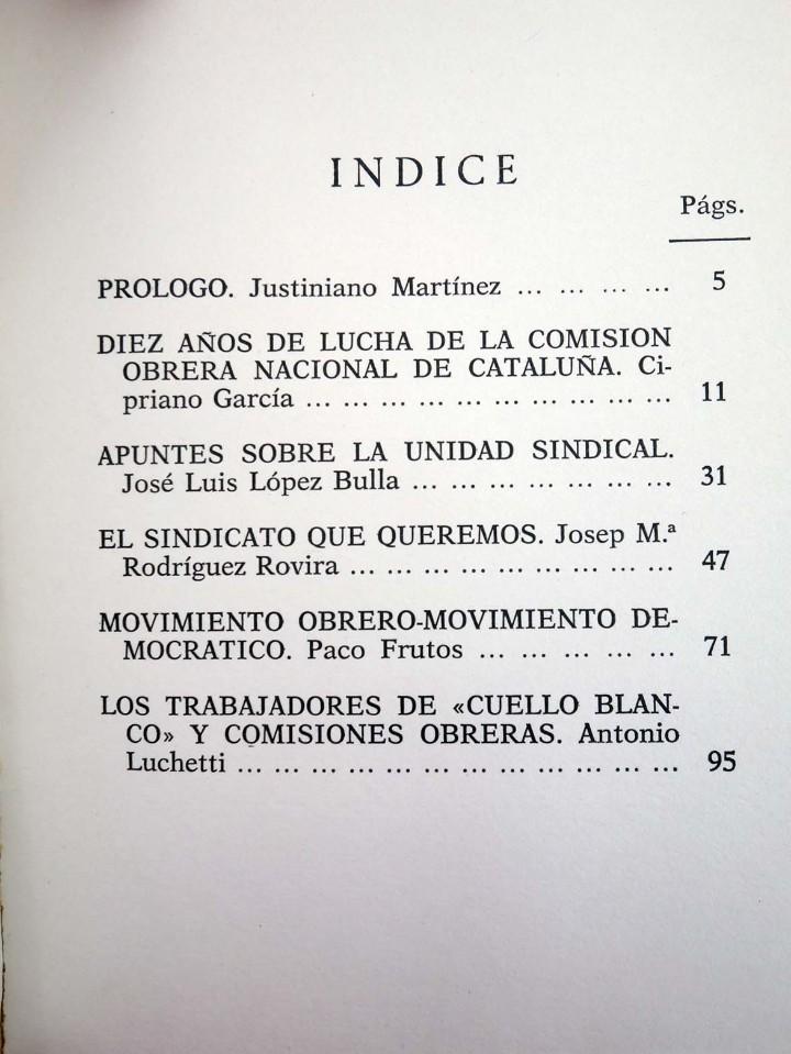 Libros de segunda mano: ESCUELA SINDICAL SINDICALISMO EN CATALUÑA (Vvaa) Mayoría, 1977 - Foto 3 - 105995958