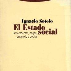 Livros em segunda mão: EL ESTADO SOCIAL - IGNACIO SOTELO. Lote 220938416
