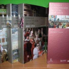 Libros de segunda mano: CORTES Y CONSTITUCION DE CADIZ 200 AÑOS, - 3 TOMOS + ESTUCHE - J. ANTONIO ESCUDERO - 2011 - ESPASA. Lote 140422857