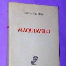 Libros de segunda mano: MAQUIAVELO. NOTAS PARA EL ESTUDIO DE SU PENSAMIENTO POLÍTICO…. Lote 111516195