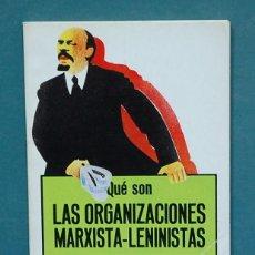 Gebrauchte Bücher - Qué son la organizaciones marxista-leninistas. Carlos Trias - 111850719