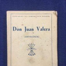 Libros de segunda mano: BREVIARIOS PENSAMIENTO ESPAÑOL DON JUAN VALERA ANTOLOGIA EDICIONES FE 1940 270 GR 17X12X2 CM. Lote 112395107