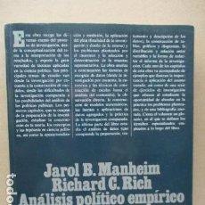 Libros de segunda mano: ANÁLISIS POLÍTICO EMPÍRICO: MÉTODOS DE INVESTIGACIÓN EN CIENCIA POLÍTICA. Lote 112684867