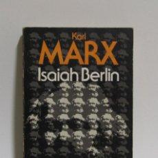 Libros de segunda mano: KARL MARX - ISAIAH BERLIN - ALIANZA EDITORIAL AÑO 1973. Lote 114477115