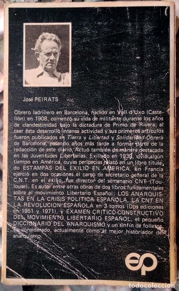 Libros de segunda mano: José Peirats . Figuras del movimiento libertario español - Foto 2 - 115099543