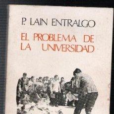 Libros de segunda mano - El problema de la universidad, P. Lain Entralgo - 115217622