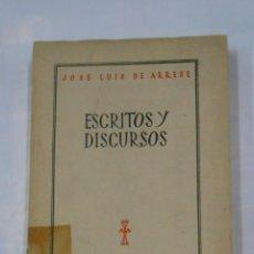 Libros de segunda mano: ESCRITOS Y DISCURSOS. JOSÉ LUIS DE ARRESE. MADRID. 1943. TDKLT. Lote 117280619