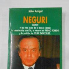 Libros de segunda mano: NEGURI ASIAIN Y LAS TRES LOSAS DE LA BANCA VASCA. - AMIGOT MIKEL. TDK102. Lote 117507503