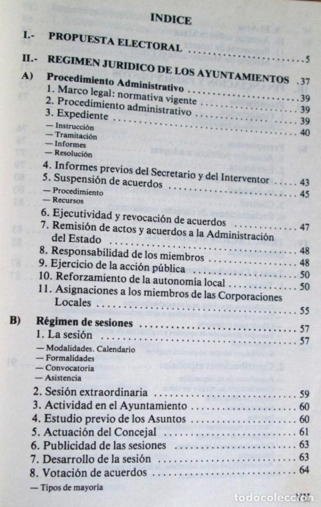 Libros de segunda mano: ALIANZA POPULAR - Manual normativa municipal -Temas estructurales y formativos - Madrid 1983 - Foto 3 - 117780483
