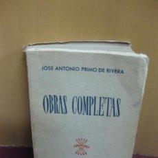 Libros de segunda mano: JOSE ANTONIO PRIMO DE RIVERA. OBRAS COMPLETAS. MADRID 1945.. Lote 118132395