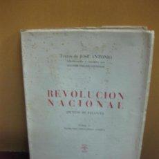 Libros de segunda mano: TEXTOS DE JOSE ANTONIO. REVOLUCION NACIONAL (PUNTOS DE FALANGE) EDICIONES PRENSA DEL MOVIMIENTO 1949. Lote 118133771