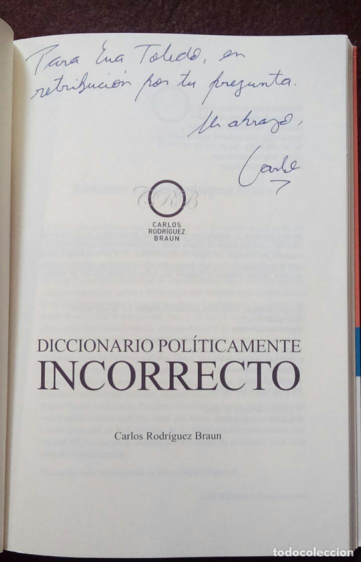 Libros de segunda mano: Diccionario políticamente incorrecto (Rodríguez Braun, Carlos) - Foto 6 - 118364171