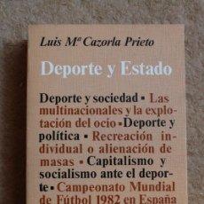 Libros de segunda mano: DEPORTE Y ESTADO. CAZORLA PRIETO (LUIS Mª) MADRID, ED. LABOR, POLITEIA, 1979.. Lote 118435923