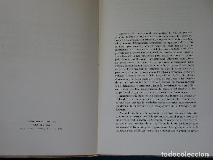 Libros de segunda mano: LIBRO DE POLÍTICA. ACTAS CONSEJO NACIONAL FALANGE ESPAÑOLA DE LAS JONS SALAMANCA 1937. 300 GR - Foto 2 - 118844811