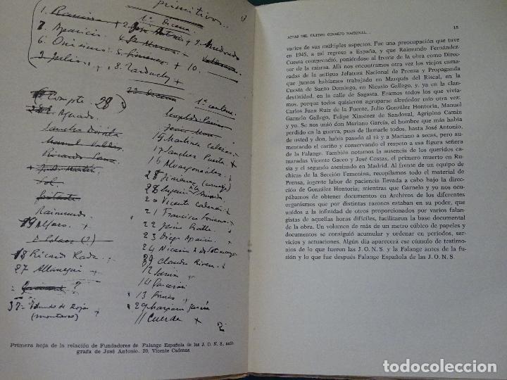 Libros de segunda mano: LIBRO DE POLÍTICA. ACTAS CONSEJO NACIONAL FALANGE ESPAÑOLA DE LAS JONS SALAMANCA 1937. 300 GR - Foto 3 - 118844811