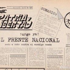 Libros de segunda mano: PATRIA Y LIBERTAD, NÚM. 3. MARZO DE 1984.. FASCISMO.. Lote 120311827