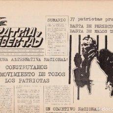Libros de segunda mano: PATRIA Y LIBERTAD, NÚM. 4. ABRIL -MAYO DE 1984. FASCISMO.. Lote 120311847