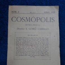 Libros de segunda mano: COSMOPOLIS, NUM. 4. ABRIL 1919 REVISTA MENSUAL.. Lote 120773283