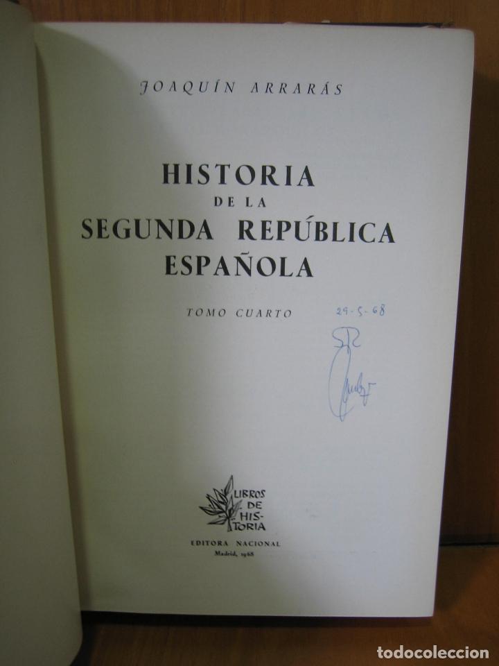 Libros de segunda mano: 1. Historia de la Segunda Republica Española 1968 - Foto 2 - 121902175