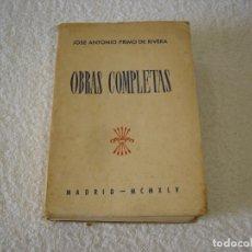 Gebrauchte Bücher - OBRAS COMPLETAS, JOSE ANTONIO PRIMO DE RIVERA - EDICIONES EDUCACION POPULAR 1945 - 122456323