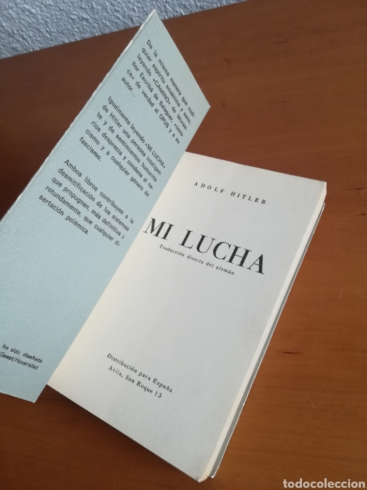 Libros de segunda mano: Mi lucha Hitler Facsímil 1era edición editada en castellano por el Partido Nazi - Mein Kampf - Foto 8 - 124425454
