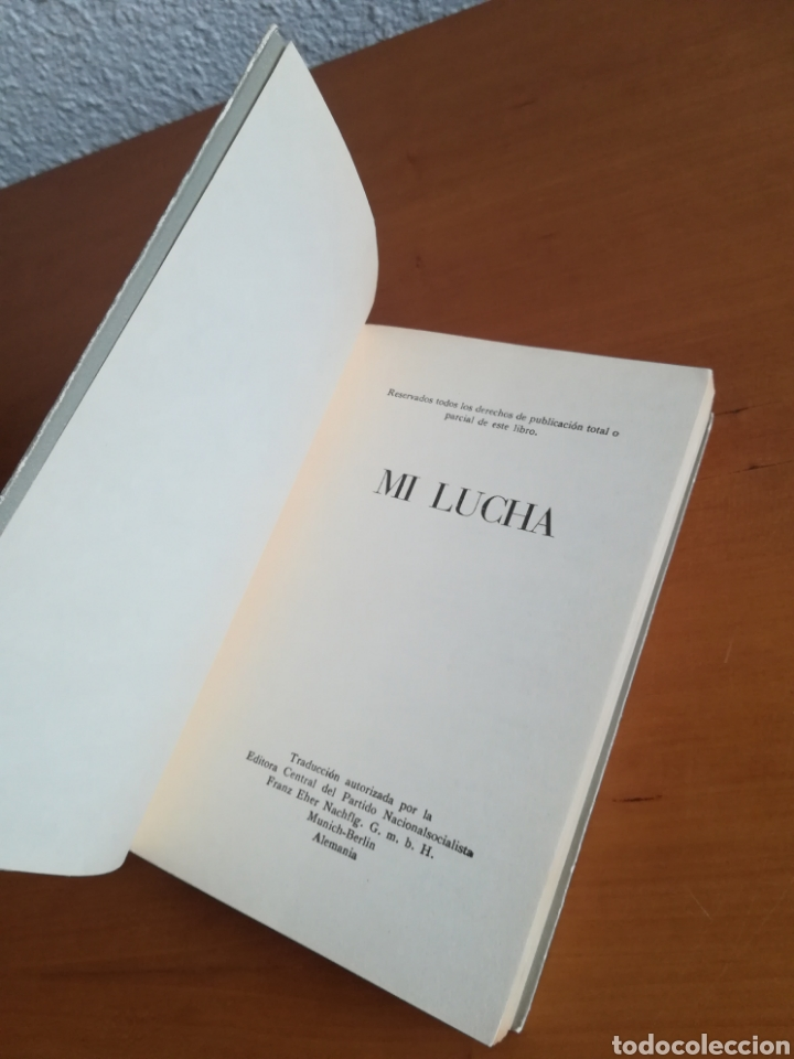 Libros de segunda mano: Mi lucha Hitler Facsímil 1era edición editada en castellano por el Partido Nazi - Mein Kampf - Foto 9 - 124425454