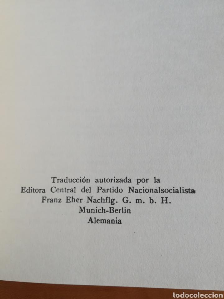 Libros de segunda mano: Mi lucha Hitler Facsímil 1era edición editada en castellano por el Partido Nazi - Mein Kampf - Foto 10 - 124425454