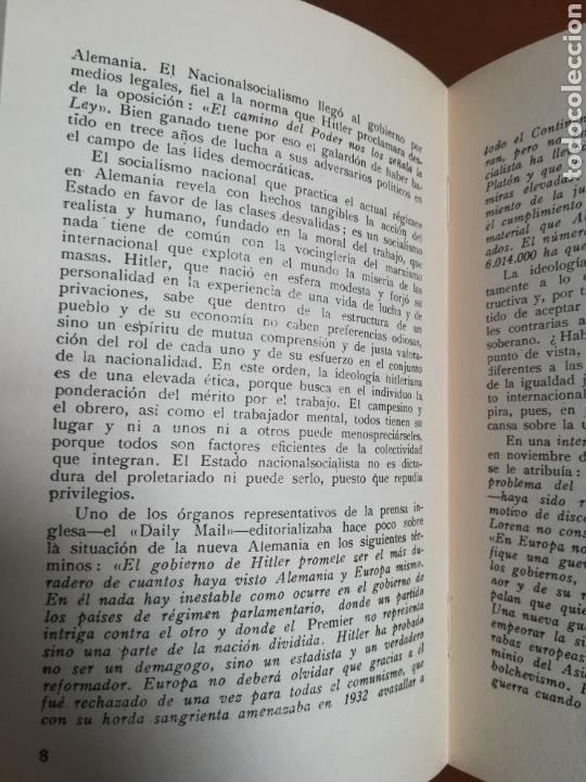 Libros de segunda mano: Mi lucha Hitler Facsímil 1era edición editada en castellano por el Partido Nazi - Mein Kampf - Foto 12 - 124425454