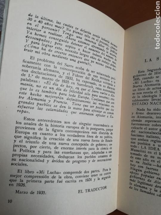 Libros de segunda mano: Mi lucha Hitler Facsímil 1era edición editada en castellano por el Partido Nazi - Mein Kampf - Foto 14 - 124425454
