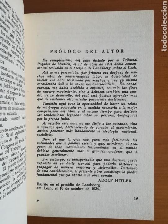 Libros de segunda mano: Mi lucha Hitler Facsímil 1era edición editada en castellano por el Partido Nazi - Mein Kampf - Foto 16 - 124425454