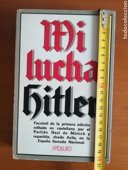 Libros de segunda mano: Mi lucha Hitler Facsímil 1era edición editada en castellano por el Partido Nazi - Mein Kampf - Foto 29 - 124425454