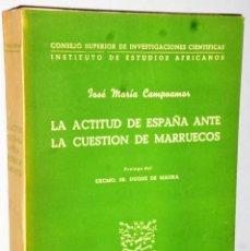 Libros de segunda mano: LA ACTITUD DE ESPAÑA ANTE LA CUESTIÓN DE MARRUECOS (1900-1904). Lote 125173979