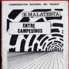 Libros de segunda mano: ERRICO MALATESTA . ENTRE CAMPESINOS. Lote 127206571
