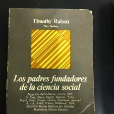 Libros de segunda mano: C13 LOS PADRES FUNDADORES DE LA CIENCIA SOCIAL. Lote 127818767