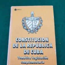 Libros de segunda mano: CONSTITUCIÓN DE LA REPÚBLICA DE CUBA - EMILIO MARILL. Lote 128426535