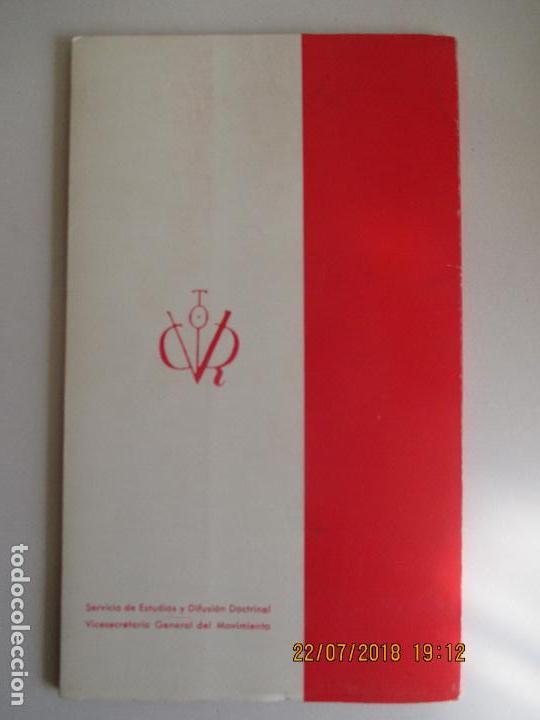Libros de segunda mano: EDICIONES DEL MOVIMIENTO. ANTE 1968. MENSAJE DE FRANCO AL PUEBLO ESPAÑOL. MADRID - Foto 2 - 215290817