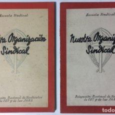 Libros de segunda mano: LOTE 2 LIBROS DIFERENTES NUESTRA ORGANIZACIÓN SINDICAL - FET Y DE LAS JONS - 5ªED FALANGE. Lote 128833812