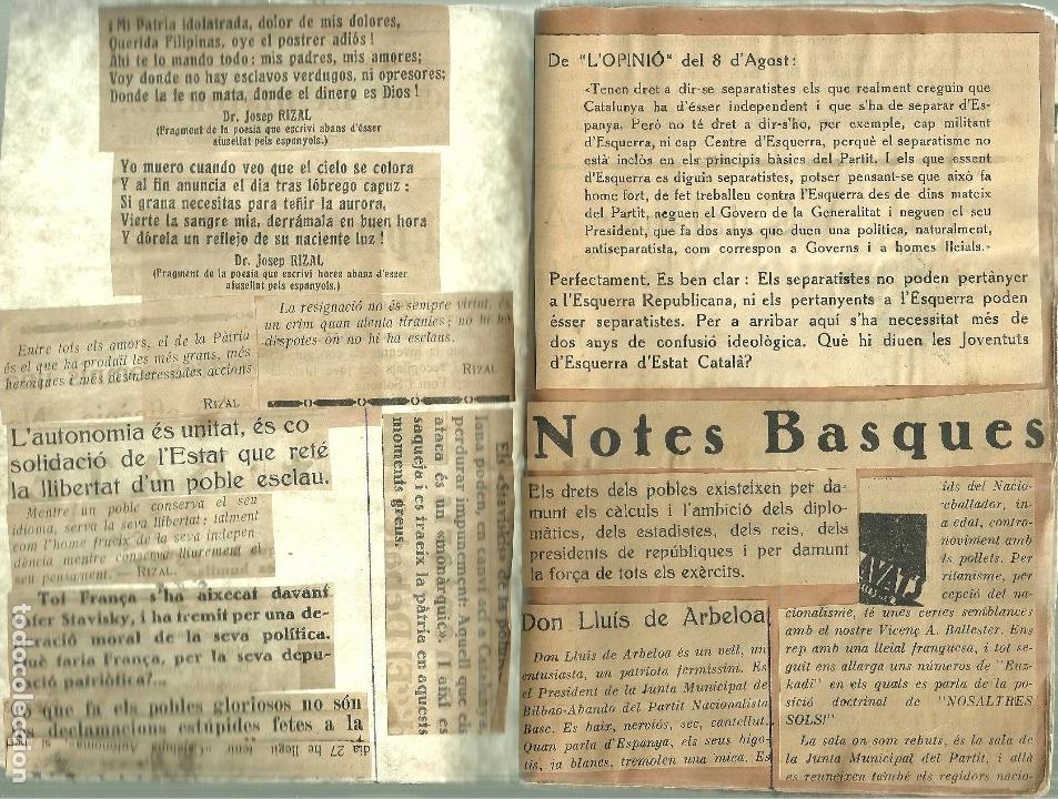 Libros de segunda mano: 686.-ELS MOVIMENTS NACIONALISTES - NOTES BASQUES- VOLUM FACTICI DE ANTONI TORRENS I GOST - Foto 3 - 128969843