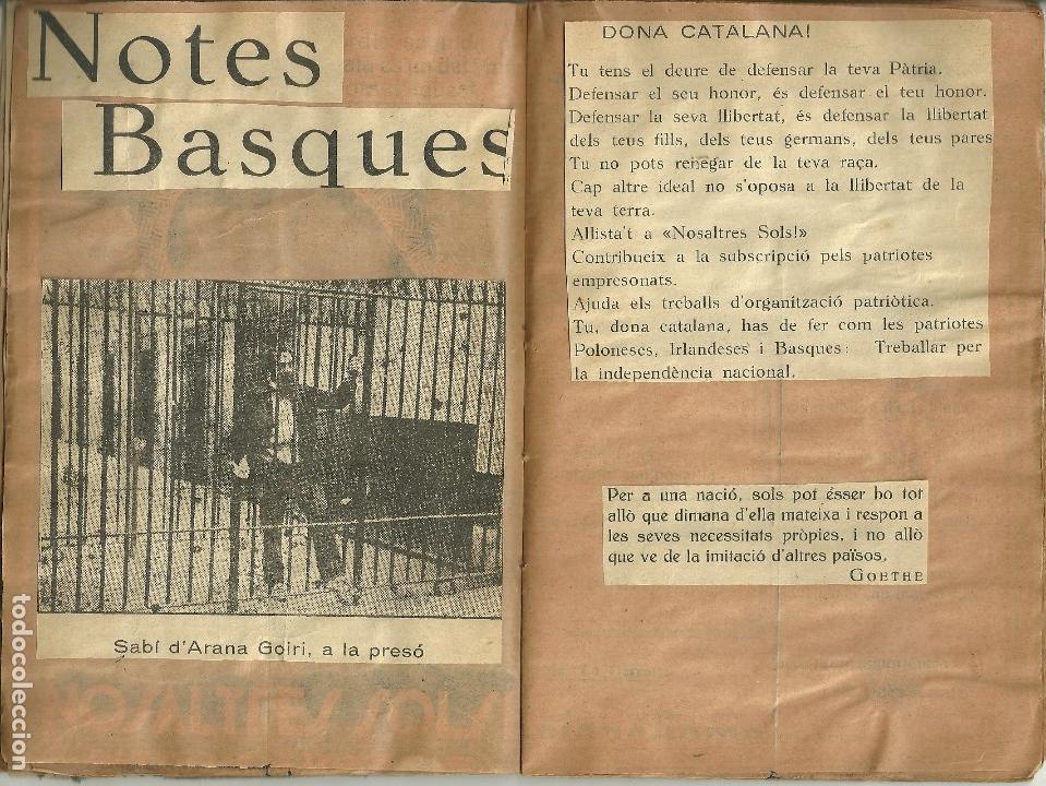 Libros de segunda mano: 686.-ELS MOVIMENTS NACIONALISTES - NOTES BASQUES- VOLUM FACTICI DE ANTONI TORRENS I GOST - Foto 5 - 128969843