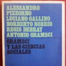 Libros de segunda mano: VV. AA. . GRAMSCI Y LAS CIENCIAS SOCIALES. Lote 129012819