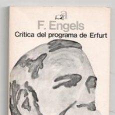 Libros de segunda mano: CRÍTICA DEL PROGRAMA DE ERFURT, F. ENGELS. Lote 129403823