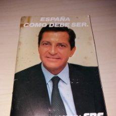 Libros de segunda mano: PROGRAMA ELECTORAL CDS - ADOLFO SUÁREZ - 1982. Lote 130555566
