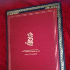 Libros de segunda mano: CONSTITUCIÓN ESPAÑOLA 25 ANIVERSARIO, 1978-2003.DECLARACION DE GREDOS. ORIGINAL. Lote 130922927