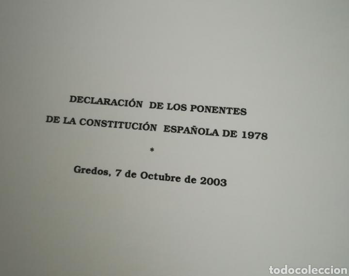 Libros de segunda mano: Constitución Española 25 aniversario, 1978-2003.Declaracion de Gredos. ORIGINAL - Foto 2 - 130922927