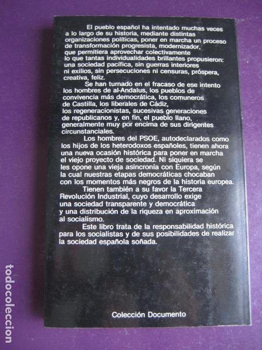 Libros de segunda mano: BALANCE Y FUTURO DEL SOCIALISMO - PSOE - ANDRES CARABANTES - PLANETA 1984 - POLITICA - Foto 3 - 131009184