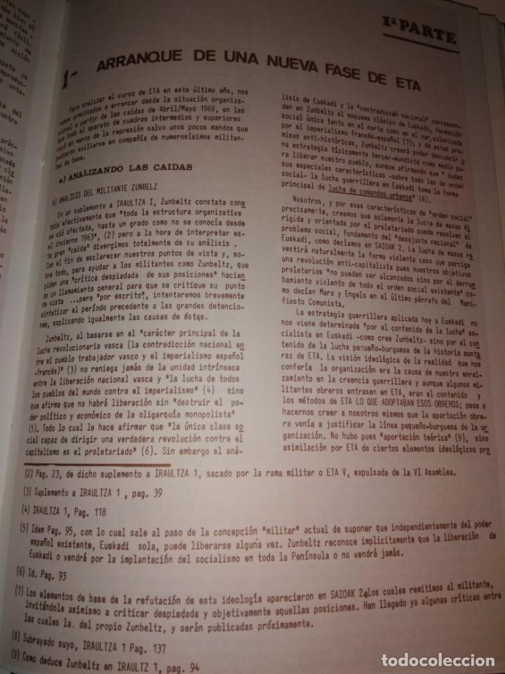 Libros de segunda mano: DOCUMENTOS Y VOLUMEN 11 HORDAGO S.A. DOCUMENTOS ETA AÑO 1971 SEXTA ASAMBLEA CELULAS ROJAS PAIS VASCO - Foto 7 - 131310947